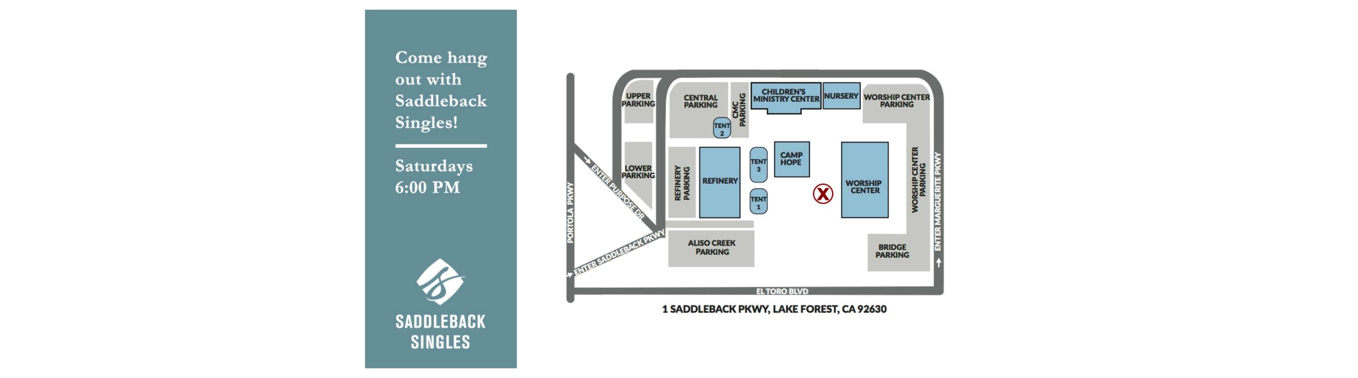 saddleback church campus map Saddleback Church Events All Singles Every Saturday Night saddleback church campus map